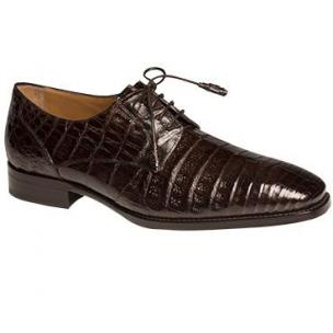 Mezlan Orazio Crocodile Derby Shoes Brown Image