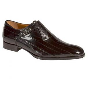 Mezlan Orleans Eel Monk Strap Shoes Black Image