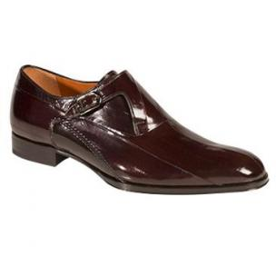 Mezlan Orleans Eel Monk Strap Shoes Brown Image