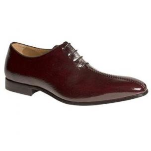 Mezlan Parodi Split Toe Textured Calfskin Oxfords Burgundy Image