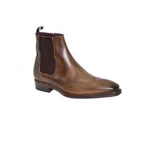 Mezlan Pau Wingtip Boots Cognac Image