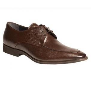 Mezlan Petrarca Deerskin Derby Shoes Brown Image