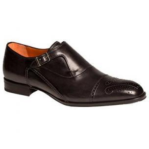 Mezlan Pisano Monk Strap Shoes Graphite Image