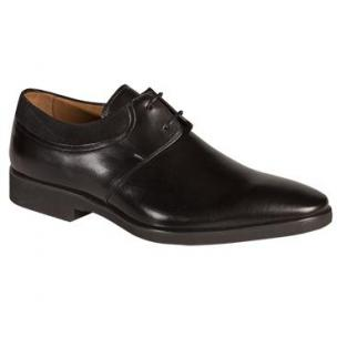 Mezlan Portsmouth Plain Toe Bluchers Black Image