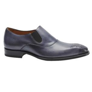 Mezlan Posadas Medallion Toe Loafers Gray Image