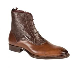 Mezlan Provence Burnished & Tumbled Calfskin Boots Brown Image