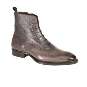 Mezlan Provence Burnished & Tumbled Calfskin Boots Gray Image