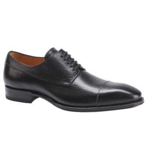 Mezlan Pulpi Peccary Cap Toe Shoes Black Image