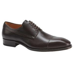 Mezlan Pulpi Peccary Cap Toe Shoes Brown Image
