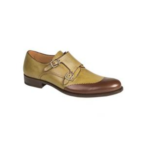 Mezlan Riviera Double Monk Strap Shoes Khaki Image