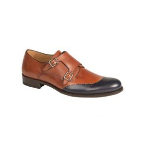 Mezlan Riviera Double Monk Strap Shoes Rust Image