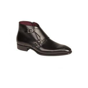 Mezlan Rocca Double Monk Strap Boots Black Image