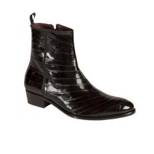 Mezlan Rochelle Eel Zipper Boots Black Image