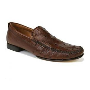 Mezlan Rollini Ostrich Loafers Tobacco  Image