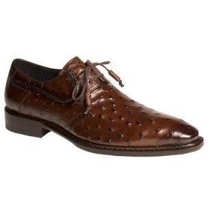 Mezlan Romano Ostrich Derby Shoes Tabac Image