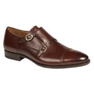Mezlan Rosales Double Monk Strap Shoes Brown Image