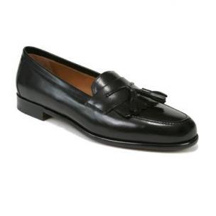 Mezlan Santander Fringe Tassel Loafers Black Image