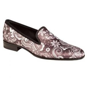 Mezlan Sarto Silk Fabric Loafers Black / White Image
