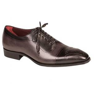 Mezlan Serrano Cap Toe Spectator Shoes Black / Gray Image