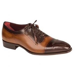 Mezlan Serrano Cap Toe Spectator Shoes Brown / Tan Image