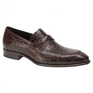 Mezlan Sierpes Crocodile Calfskin Shoes Brown Image