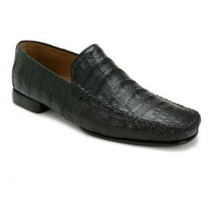 Mezlan Simon Crocodile Loafers Black Image