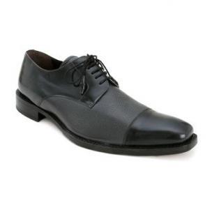 Mezlan Soka Calfskin & Deerskin Cap Toe Shoes Gray Image