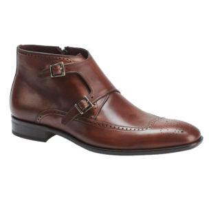 Mezlan Taberna Monk Strap Boots Cognac Image