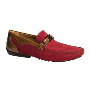 Mezlan Taddeo Oiled Suede Bit Driving Shoes Brick / Tan Image