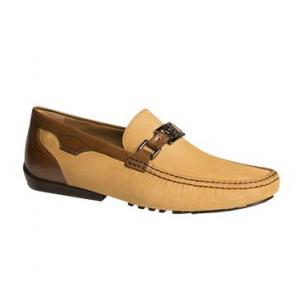 Mezlan Taddeo Oiled Suede Bit Driving Shoes Camel / Tan Image