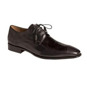 Mezlan Toledo Ostrich & Calfskin Derby Shoes Black Image