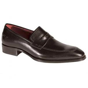 Mezlan Toulon Penny Loafers Black Image