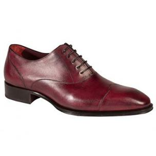 Mezlan Toulouse Wingtip Cap Toe Oxfords Grape Image