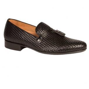 Mezlan Turing Woven Tassel Loafers Black Image