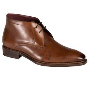 Mezlan Tuy Burnished Calfskin Boots Brown Image