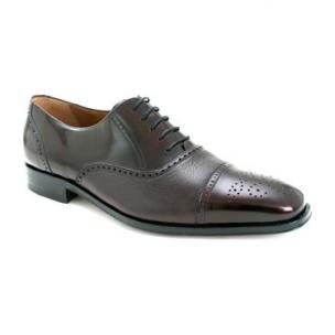 Mezlan Tyson II Calfskin & Deerskin Cap Toe Shoes Burgundy Image