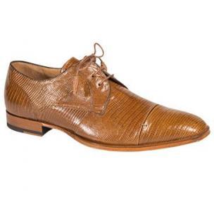 Mezlan Valdes Lizard Cap Toe Derby Shoes Camel Image