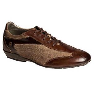 Mezlan Vega Calfskin & Suede Sneakers Mocha / Taupe Image