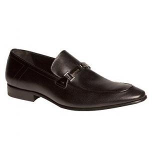 Mezlan Weyden Calfskin Bit Loafers Black Image