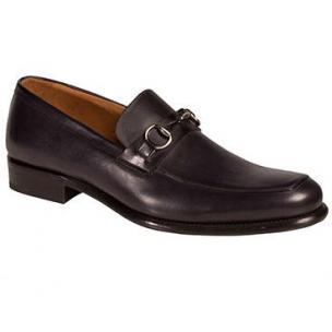 Mezlan Worcester Apron Toe Bit Loafers Black Image