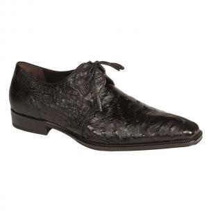 Mezlan Worth Ostrich Shoes Black Image