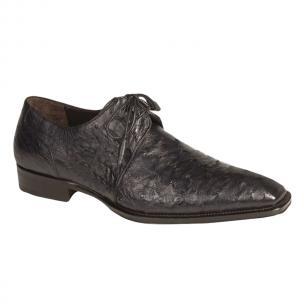Mezlan Worth Ostrich Shoes Blue Image