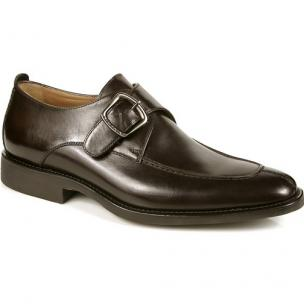 Michael Toschi Berta Monk Strap Calfskin Shoes Chocolate Image