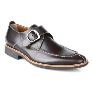 Michael Toschi Berta Monk Strap Shoes Chocolate Image