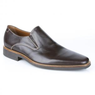 Michael Toschi Brando Plain Toe Loafers Brown Image
