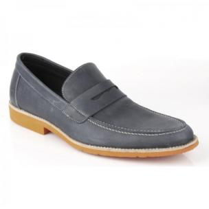 Michael Toschi Cabo Penny Loafers Steel / Orange Sole Image