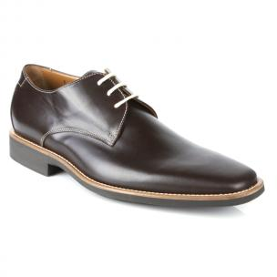 Michael Toschi Casanova Plain Toe Dress Shoes Chocolate Image