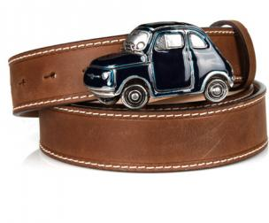 Michael Toschi Cinquecento 500 Belt Brown/Blue Image