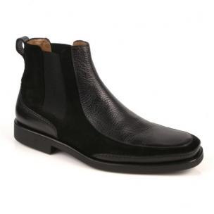 Michael Toschi Frisco Boots Black Tumble Suede Image