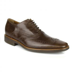 Michael Toschi Luciano Wingtip Brogues Old Walnut Image
